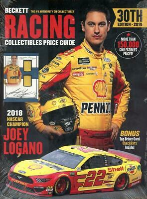 2019 Beckett Racing Collectibles Card Price Guide Mag 30th Edition Joey Logano