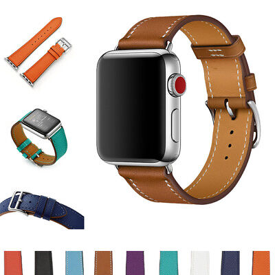 Genuine Leather Strap Band For Apple Watch Series 5 4 3 2 1 38mm 42mm 40mm 44mm