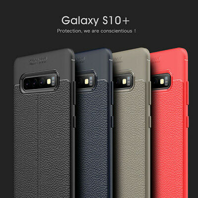 For Samsung Galaxy S10 Plus S10e Ultra Slim Leather Rubber Shockproof Case Cover