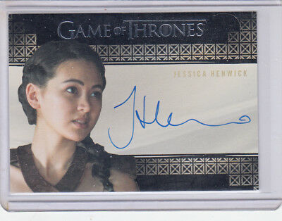 Game of Thrones Jessica Henwick as Nymeria Sand Season 7 Autograph Card