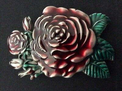 New Western Rose Flower Belt Buckle