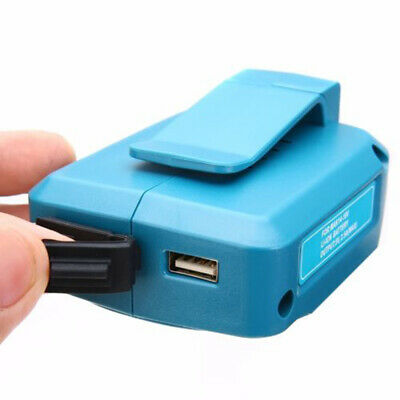 Battery Charger Adapter 10*7.2*2.6cm ABS For Makita BL1830 BL1430 Dual USB New