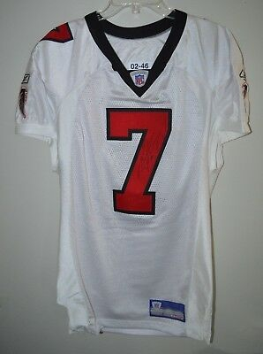 f9c5af68b Auto Signed 2002 Reebok NFL Atlanta Falcons Michael Vick 7 Game Issued  Jersey 46