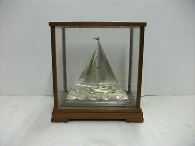 The sailboat of Sterling Silver of Japan. #44g/ 1.55oz.Japanese antique