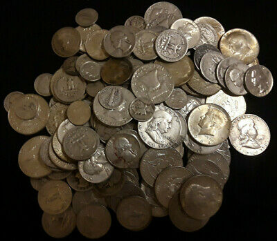 Two Dollar ($2) Face Value (FV) 90% Silver Coins Halves, Dimes, Quarters 0064