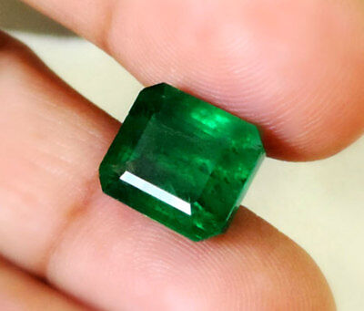 8.82 CT Natural Zambian Estate Deep Green Exclusive Emerald Certified Ring