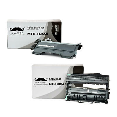 Moustache® TN450 DR420 Toner Cartridge&Drum Combo For Brother 7060D 7065DN 2132