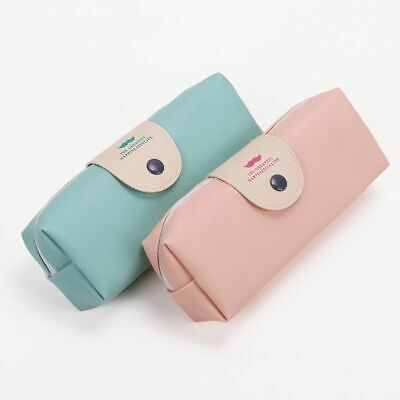 PU Leather Candy Color Pencil Bags Elegant Korean Style Student Supplies