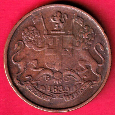 British India - 1835 - East India Company - One Quarter Anna - Rare Coin #l16