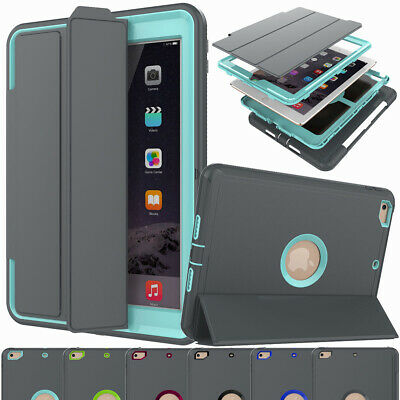 """Wake/Sleep Case Cover Built-in Screen Protector for New iPad 6th 9.7"""" Gen 2018"""