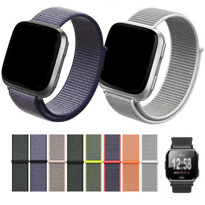 Replace Woven Nylon Loop Bracelet Sport Watch Band Strap For Fitbit Versa EN