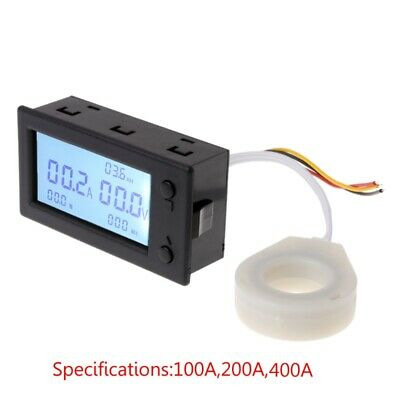100A 200A 400A DC300V Hall Effect Coulometer Digital Voltmeter Ammeter Sensor