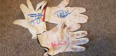 Job Lot Signed Golf Used Gloves Charity Auction Hedblom Edfors Stone