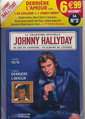 """Johnny Hallyday Collection Officielle """"derriere L'amour """" N° 2 - 1976 - Neuf"""