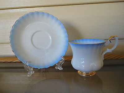 "Royal Albert ""Blue Rainbow"" Demitassie Duo England 1950s"