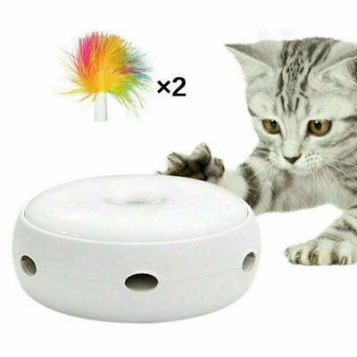 Electric Toy Pet Cat Smart Teaser Interactive Kitten Rotating Design Toy Kit lot