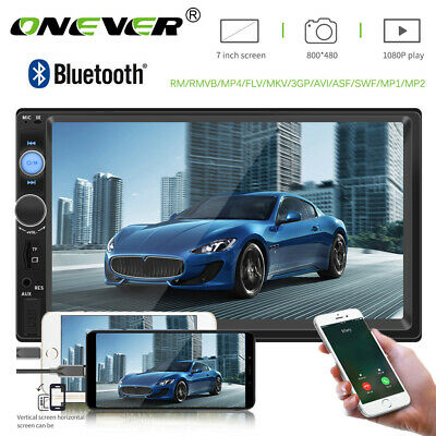 """7"""" Double 2Din Touch Car Stereo MP5 Player Bluetooth FM Radio For IOS Android UK"""