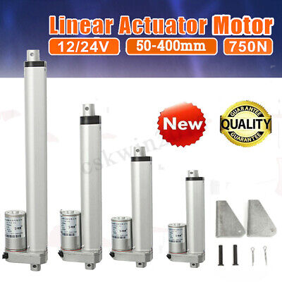 Linear Actuator Motor 12/24V High Speed 30mm 50mm/s Door Opener + Mount Bracket