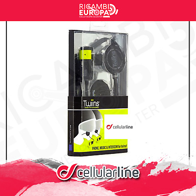 TWIINS HF2DUAL KIT AURICOLARE CASCO UNIVERSALE Bluetooth STEREO INTERFONO