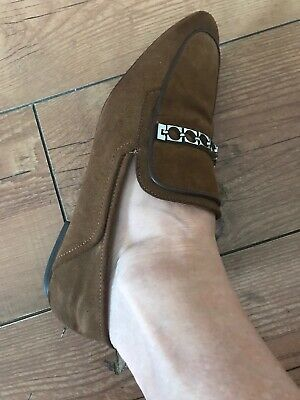 Zara Brown Ladies Loafer Shoes Size 7 / 40