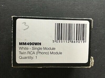 Click MM490WH Twin RCA Phono Module - New & Boxed
