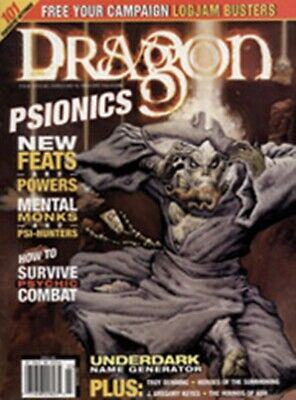 DRAGON MAGAZINE 281 Forgotten realms Psionics  issue in excellent condition