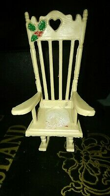 Miniature Doll Rocking Chair Accessories For Doll  Room Dollhouse Decoration THK