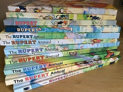 Collection of 11 Rupert Annuals 1986-2007. Unclipped, No Inscriptions