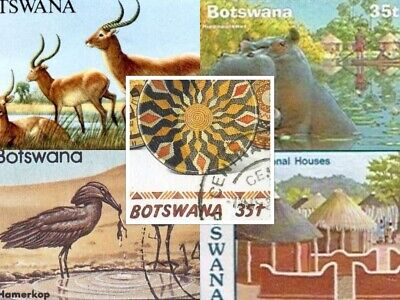 100 Botswana Collection Of All Different Stamps