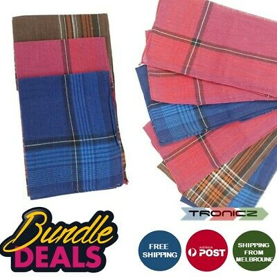 Mens HANDKERCHIEFS 100%Pure Cotton Pocket Square Hanky Handkerchief New Bulk