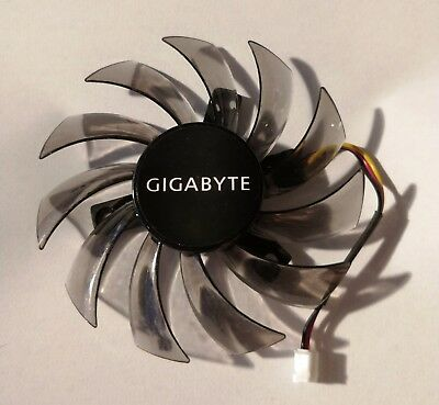 Gigabyte GPU WINDFORCE Cooling Replacement 75 mm 3 pin Fan for GV-N 4,5,6 VGA