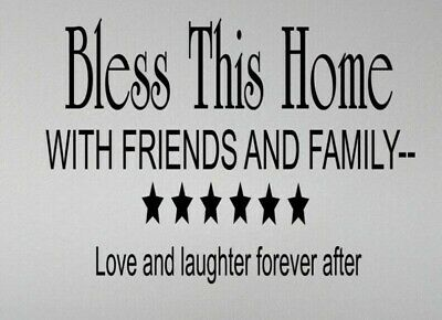 God Bless Bible Wall Art Sticker Vinyl Decal Decals Quotes Transfer