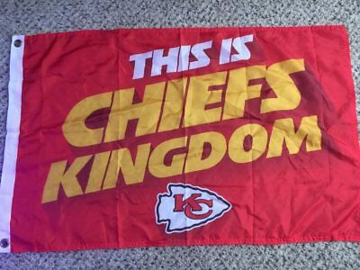 KC Kansas City THIS IS CHIEFS KINGDOM Flag 2015 McDonalds Large Indoor Flag 14b1821b3244