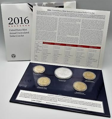 2016 Annual Uncirculated Dollar Coin Set OGP