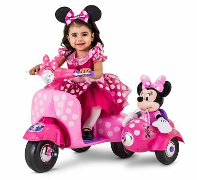 Battery Powered Ride On Toys For Toddlers >> 6v Scooter For Kids Car Girls Ride On Toys Toddlers Minnie Mouse Battery Powered