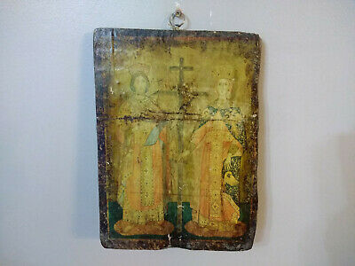 Antique Russian Orthodox Religious Christian Wood Icon