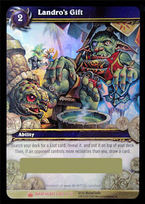 WOW TCG Landro's Gift Box Loot Card Unscratched New Your Lucky Box WOW Warcraft
