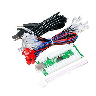 Zero Delay USB Encoder to PC joystick use for 5P Stick + Chrome Buttons Cable