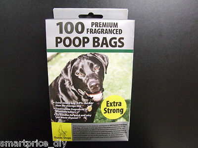400 Premium Extra Strong Doggy Poo Poop Pooper Bags Large Fragrance Tie Handle