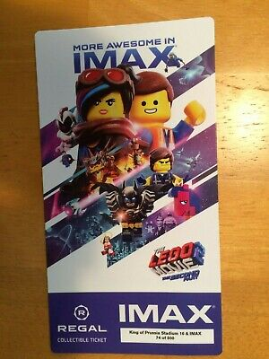The Lego Movie 2 The Second Unit Collectible Regal IMAX Ticket Free Shpping