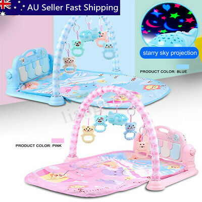 3-in-1 Baby Infant Gym Play Mat Fitness Music Piano Pedal Educational Gift Toys