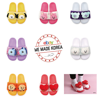BTS BT21 Character Plush Doll Indoor Slipper 220~250mm K-Pop Authentic Goods
