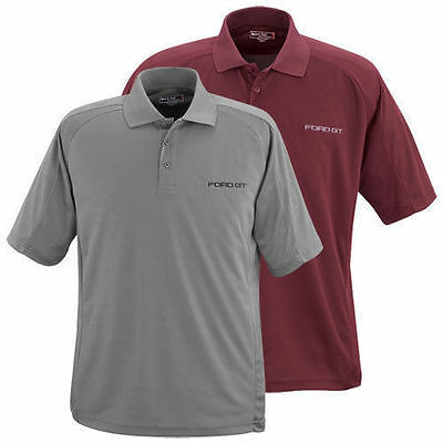 Rare Brand New Licensed Ford Gt Burgundy Or Gray Dri-Mesh Ultra Dry Polo Shirt!