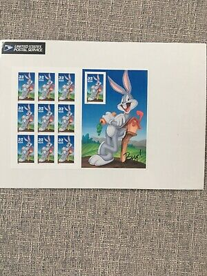 Scott #3137     Us Souvenir  Sheet   Bugs  Bunny  32 Cent     Mnh