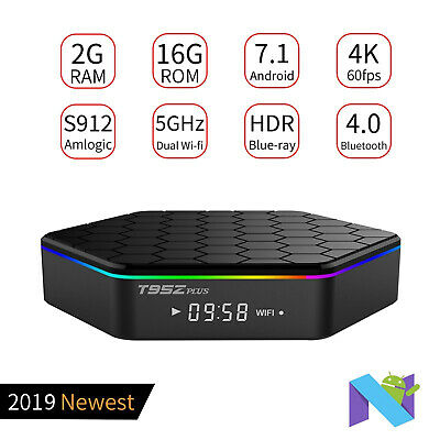 2+16GB T95Z Plus Android 7.1 Amlogic S912 Octa Core TV BOX 4K Movoes Sports