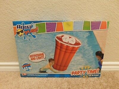 Brand new in the box Aqua Splash 60in. Party Time Red Solo Cup pool float
