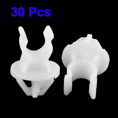 Rivets Fastener Clips White Plastic 25mm Car 1.0 inches Durable Support Holder
