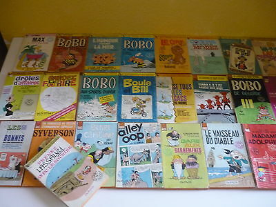 Lot de 25 livres = Morris - Peyo - Deliege - etc... = Collection Gdp -