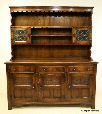 Oak Welsh Dresser Tudor Style Made By Bevan Funnell FREE Nationwide Delivery