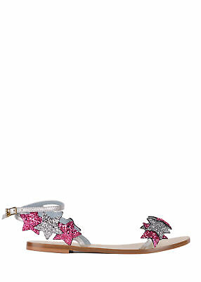 1ad107c92 Chiara Ferragni Womens Leather Pink Glitter Star Sandals Size IT38 US8~RTL  796